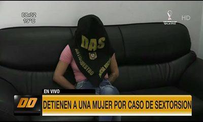 Detienen a una mujer por caso de sextorsión en Asunción