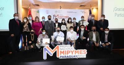 La Nación / Ganadores del Premio Nacional Mipymes de distintos puntos del país fueron galardonados