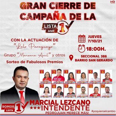 Gran Cierre de Campaña de la Lista 1 en Pedro Juan Caballero
