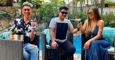 Toñito y Jazmín de tour por canales de televisión de Bolivia