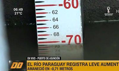 El río Paraguay registra leve aumento