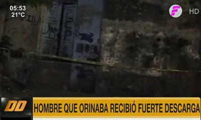 Hombre recibe descarga eléctrica tras orinar por una muralla en Asunción