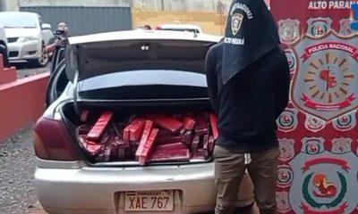 Llevaba auto cargado con marihuana, le prometieron Gs. 600.000 por el traslado