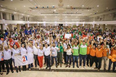 Rojas Borja cerró campaña entre compañeros de sueños e ideales