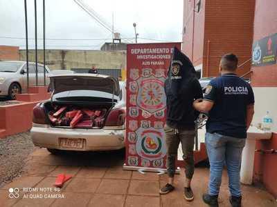 Detienen a mecánico que transportaba más de 200 kilos de marihuana en CDE