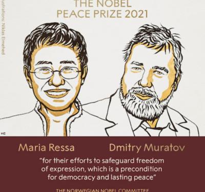 Periodistas de Filipinas y Rusia se llevan el Premio Nobel de la Paz 2021