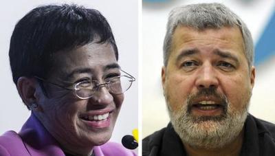 Periodistas de Filipinas y Rusia ganan el Nobel de la Paz por su lucha en favor de la libertad de expresión
