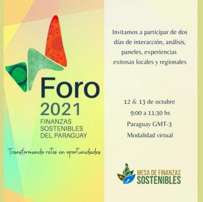 Foro 2021: llega la cuarta edición de Finanzas Sostenibles del Paraguay