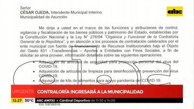 Contraloría ingresará a la Municipalidad de Asunción