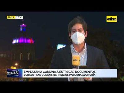 Contraloría emplaza a la Municipalidad de Asunción para entregar documentos