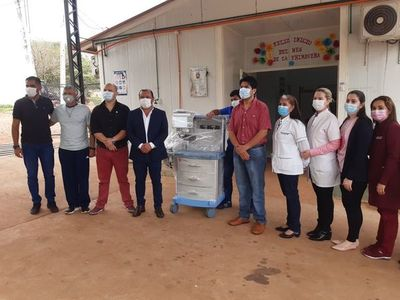 Nueva máquina de anestesia para hospital de Piribebuy