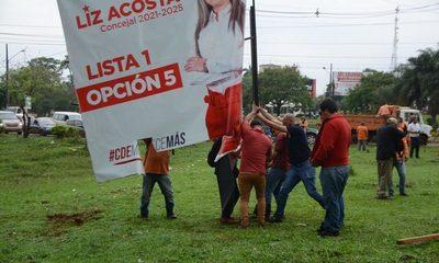 Municipalidad de Ciudad del Este retiró carteles de propaganda política – Diario TNPRESS