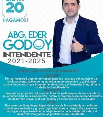 Eder Godoy pide a la gente ir a votar – Diario TNPRESS