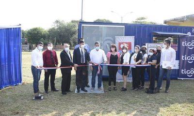 Tigo y Conatel inauguran un nuevo Telecentro en Ñemby