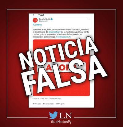 Guerra sucia total: medio La Nación advierte sobre publicación falsa en redes sociales