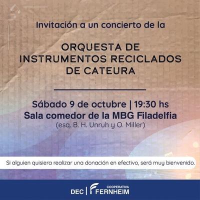 Orquesta de instrumentos reciclados de Cateura  realizará concierto en Filadelfia
