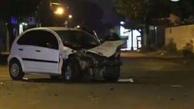 Pasajera de Uber queda herida tras un choque en San Lorenzo