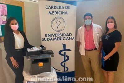 Universidad Sudamericana realizó donación de un equipo de Fotocopiadora para el Hospital Distrital de Horqueta, Concepción