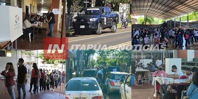 ASÍ SE ESTÁ VIVIENDO ESTA JORNADA DE ELECCIONES MUNICIPALES EN ITAPÚA