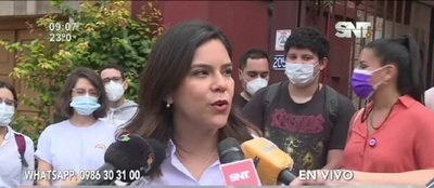 Johanna Ortega irá al local de votación