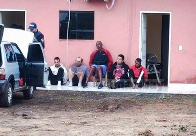 Allanamiento de una vivienda en Pedro Juan Caballero en prosecución al atentado del cuádruple homicidio