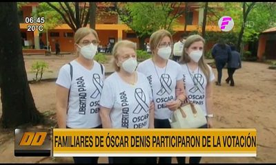 Familiares de Óscar Denis participaron de la votación