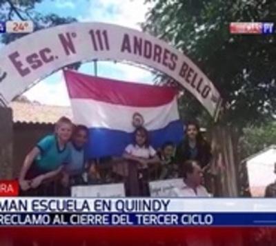 Alumnos toman escuela en Quiindy por cierre de cursos