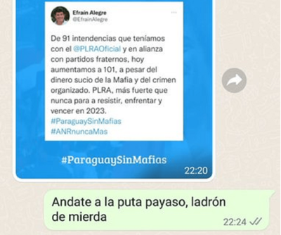 Silva Facetti fuerte contra Efraín Alegre