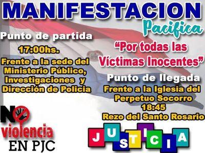 Marcha pacífica en demanda de justicia y por el fin de la violencia en la frontera
