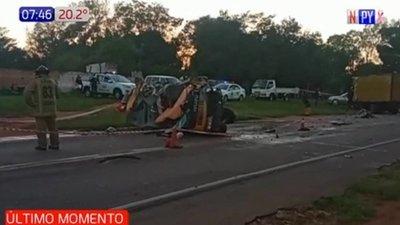 Fallece Capitana de bomberos en fatal accidente en Quiindy