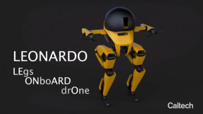 Leonardo: el primer dron que vuela y camina
