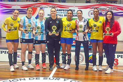 """""""Guerrera"""" en el equipo ideal del<br>Sur Centroamericano de Handball"""