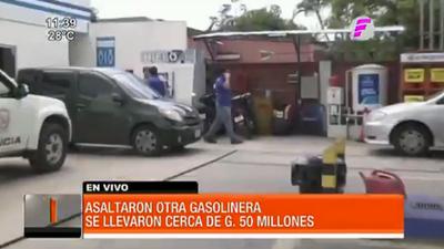Delincuentes roban G. 50 millones en violento asalto a gasolinera