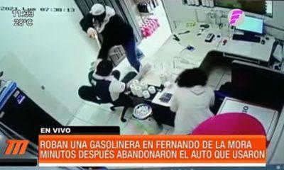 Así asaltaron una gasolinera en Fernando de la Mora