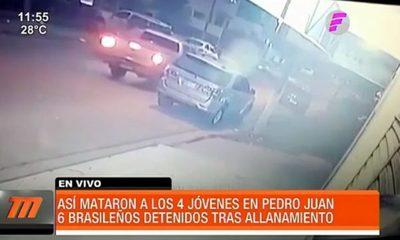 Así mataron a los 4 jóvenes en Pedro Juan Caballero