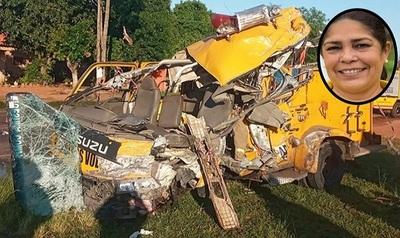 Capitana de Bomberos Voluntarios de Asunción falleció en accidente de tránsito