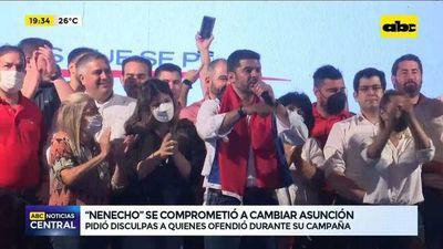 """Nenecho se """"compromete"""" a cambiar Asunción"""