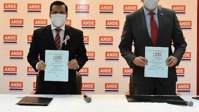 Itaipú da a la ANDE USD 9,7 millones para mejorar servicio