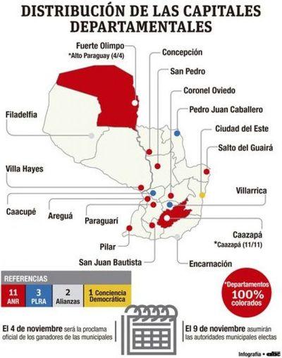 Satélites y división opositora permitieron fortalecimiento colorado