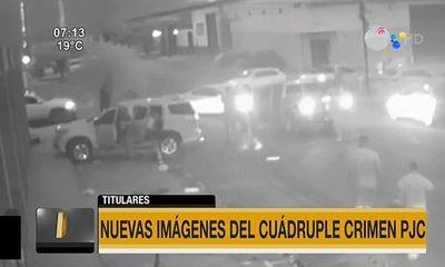 Nuevas imágenes del cuádruple crimen en PJC