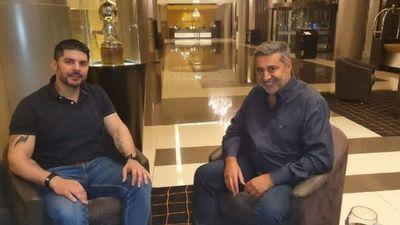 Nenecho evalúa proyectos con el ex presidente de Boca Juniors
