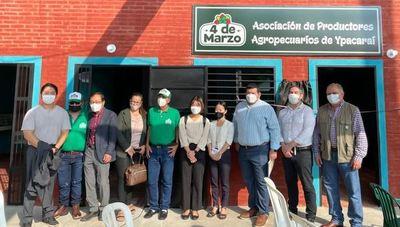 Asociación de productores agropecuarios de Ypacaraí inaugura sede administrativa