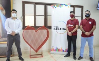 Comuna esteña se une a la campaña solidaria del Team Paraná