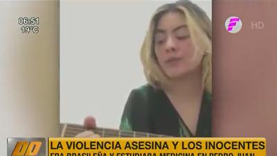 El último canto realizado por una de las víctimas del atentado en PJC