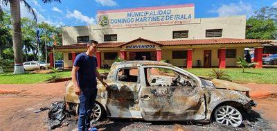 """Intendente electo de Irala: """"Creería que si era yo me iban a quemar vivo"""""""