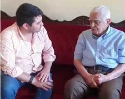 Intendente electo visita a veterano ex jefe comunal