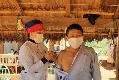 Conmemoran por conseguir la primera Colonia Indígena en aceptar la vacunación Anti COVID en la XIII Región Sanitaria