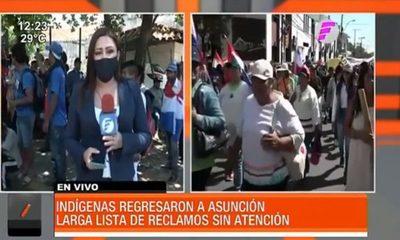 Indígenas regresaron a Asunción por sus reivindicaciones