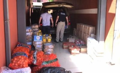 Conductor de minibús es detenido con mercadería de contrabando