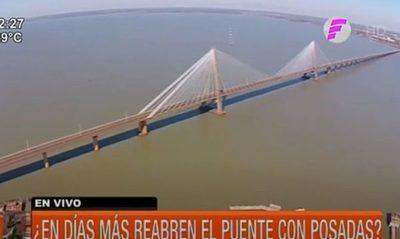 ¿En días más reabren el puente con Posadas?